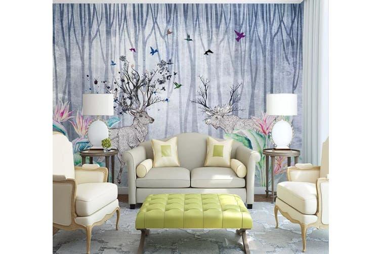 3D Home Wallpaper Elk Woods 014 ACH Wall Murals Woven paper (need glue), XXXXL 520cm x 290cm (WxH)(205''x114'')