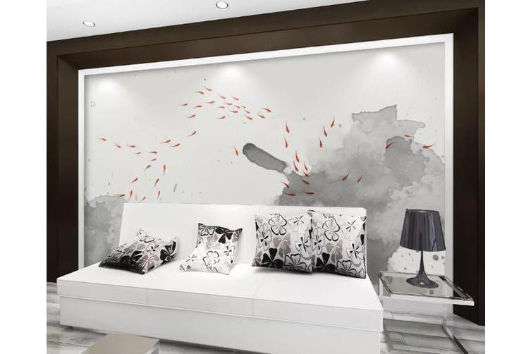 3D Home Wallpaper Goldfish Lotus 0D ACH Wall Murals Woven paper (need glue), XXXXL 520cm x 290cm (WxH)(205''x114'')