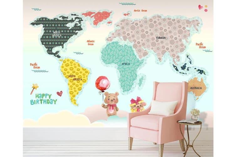 3D Home Wallpaper Color Map 012 ACH Wall Murals Woven paper (need glue), XXL 312cm x 219cm (WxH)(123''x87'')