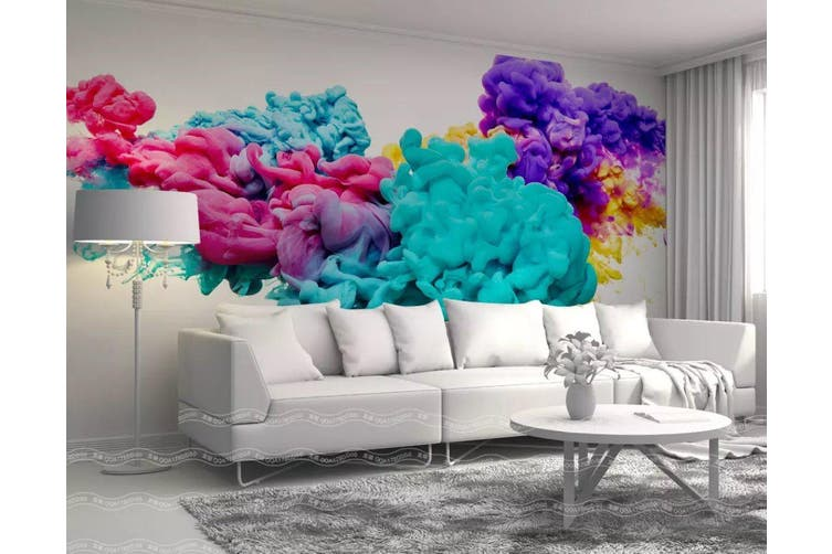 3D Home Wallpaper Color Ink 011 ACH Wall Murals Woven paper (need glue), XL 208cm x 146cm (WxH)(82''x58'')