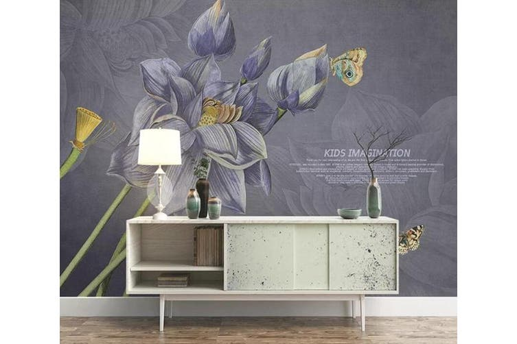 3D Home Wallpaper Flower 1480 ACH Wall Murals Woven paper (need glue), XXL 312cm x 219cm (WxH)(123''x87'')