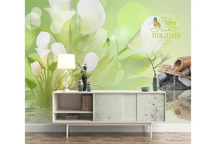 3D Home Wallpaper Flower Butterfly 1479 ACH Wall Murals Woven paper (need glue), XL 208cm x 146cm (WxH)(82''x58'')