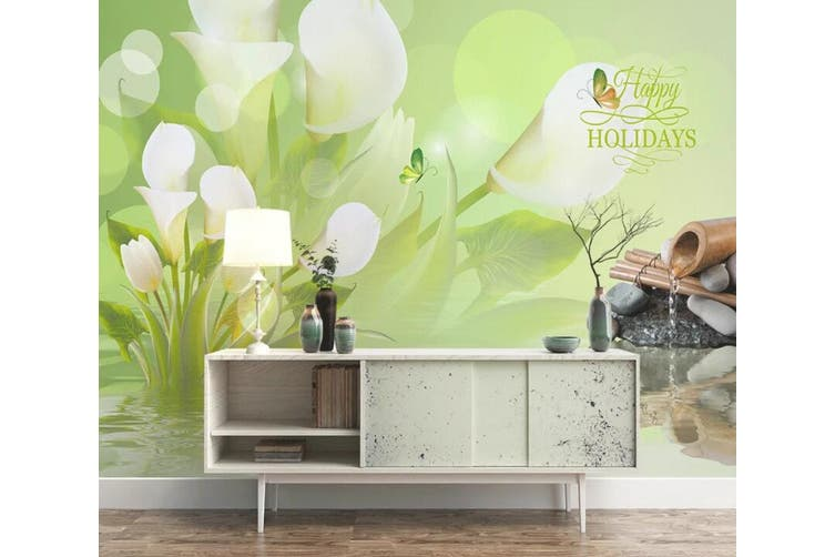 3D Home Wallpaper Flower Butterfly 1479 ACH Wall Murals Self-adhesive Vinyl, XL 208cm x 146cm (WxH)(82''x58'')