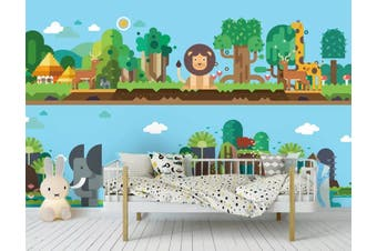 3D Home Wallpaper Animal Park 1478 ACH Wall Murals Woven paper (need glue), XXXL 416cm x 254cm (WxH)(164''x100'')