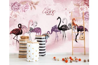 3D Home Wallpaper  Flamingo 1477 ACH Wall Murals Self-adhesive Vinyl, XL 208cm x 146cm (WxH)(82''x58'')