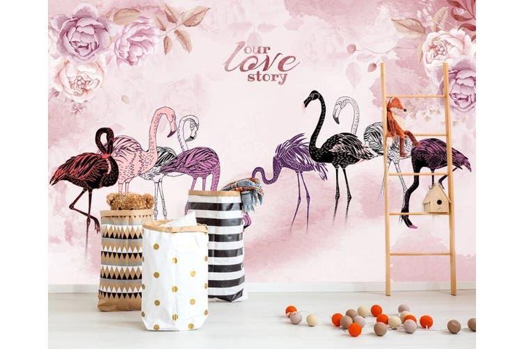 3D Home Wallpaper  Flamingo 1477 ACH Wall Murals Self-adhesive Vinyl, XXL 312cm x 219cm (WxH)(123''x87'')