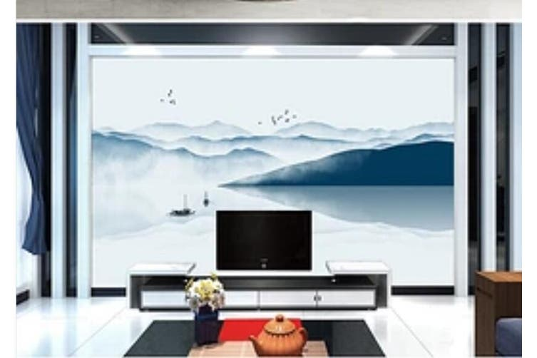 3D Home Wallpaper Lake Boat 1476 ACH Wall Murals Self-adhesive Vinyl, XXXL 416cm x 254cm (WxH)(164''x100'')