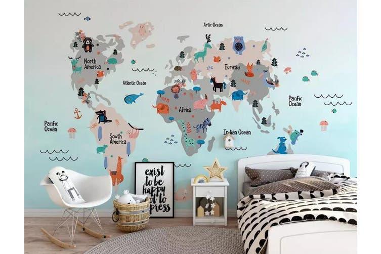 3D Home Wallpaper Map 1474 ACH Wall Murals Self-adhesive Vinyl, XXL 312cm x 219cm (WxH)(123''x87'')