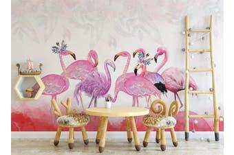 3D Home Wallpaper Pink Flamingo 1473 ACH Wall Murals Self-adhesive Vinyl, XL 208cm x 146cm (WxH)(82''x58'')