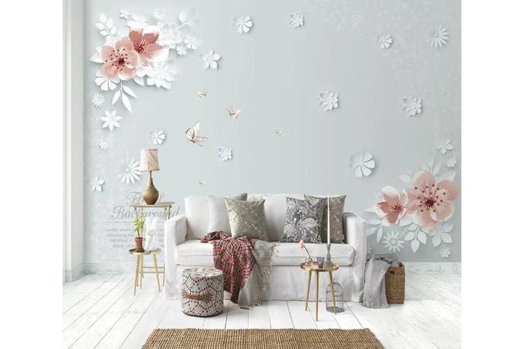 3D Home Wallpaper Pink Flower 1471 ACH Wall Murals Self-adhesive Vinyl, XXXXL 520cm x 290cm (WxH)(205''x114'')