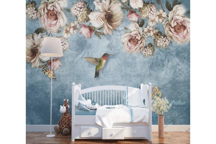 3D Home Wallpaper Flowers And Leaves 1470 ACH Wall Murals Woven paper (need glue), XXL 312cm x 219cm (WxH)(123''x87'')