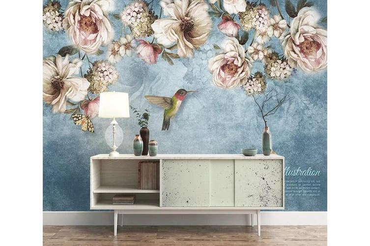 3D Home Wallpaper Flowers And Leaves 1470 ACH Wall Murals Woven paper (need glue), XXXL 416cm x 254cm (WxH)(164''x100'')