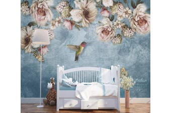 3D Home Wallpaper Flowers And Leaves 1470 ACH Wall Murals Self-adhesive Vinyl, XXXL 416cm x 254cm (WxH)(164''x100'')