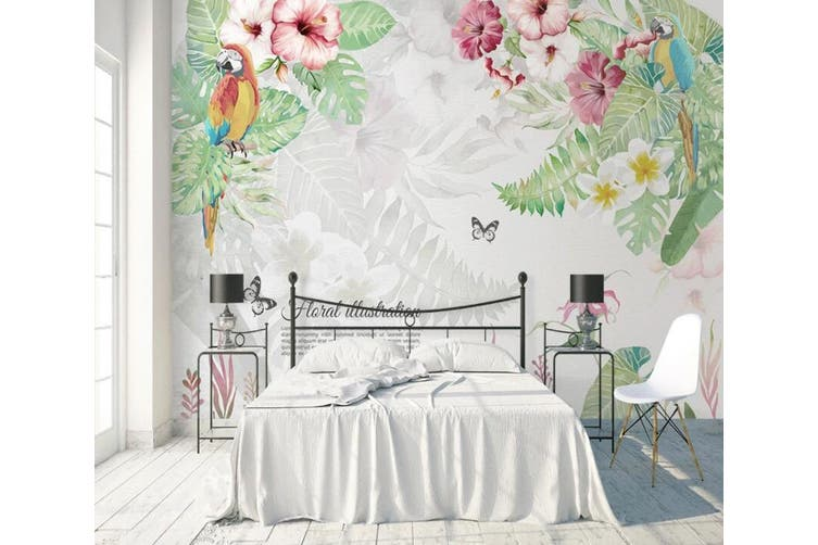 3D Home Wallpaper Flowers And Leaves 1469 ACH Wall Murals Woven paper (need glue), XXL 312cm x 219cm (WxH)(123''x87'')