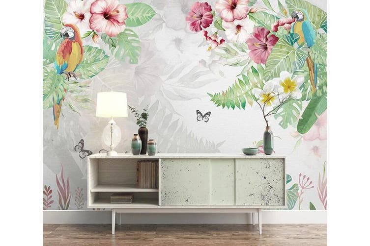 3D Home Wallpaper Flowers And Leaves 1469 ACH Wall Murals Woven paper (need glue), XXXL 416cm x 254cm (WxH)(164''x100'')
