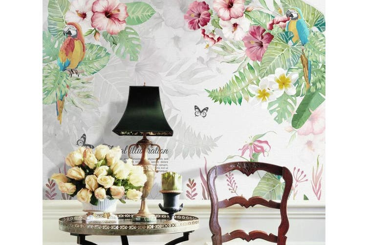 3D Home Wallpaper Flowers And Leaves 1469 ACH Wall Murals Woven paper (need glue), XXXXL 520cm x 290cm (WxH)(205''x114'')