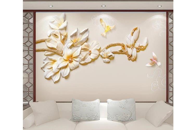 3D Home Wallpaper Flowers 1467 ACH Wall Murals Self-adhesive Vinyl, XL 208cm x 146cm (WxH)(82''x58'')