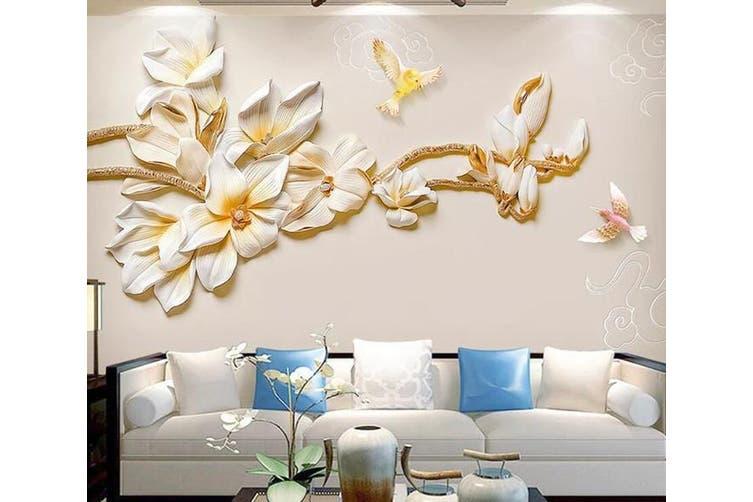 3D Home Wallpaper Flowers 1467 ACH Wall Murals Self-adhesive Vinyl, XXL 312cm x 219cm (WxH)(123''x87'')