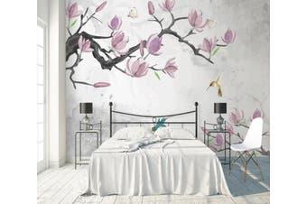 3D Home Wallpaper Pink Flowers 1466 ACH Wall Murals Woven paper (need glue), XL 208cm x 146cm (WxH)(82''x58'')