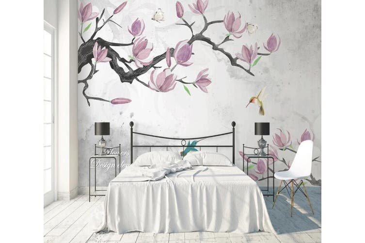 3D Home Wallpaper Pink Flowers 1466 ACH Wall Murals Woven paper (need glue), XXXXL 520cm x 290cm (WxH)(205''x114'')