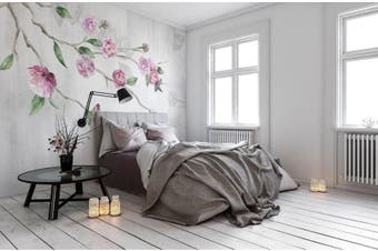 3D Home Wallpaper Pink Flowers 1464 ACH Wall Murals Woven paper (need glue), XXL 312cm x 219cm (WxH)(123''x87'')