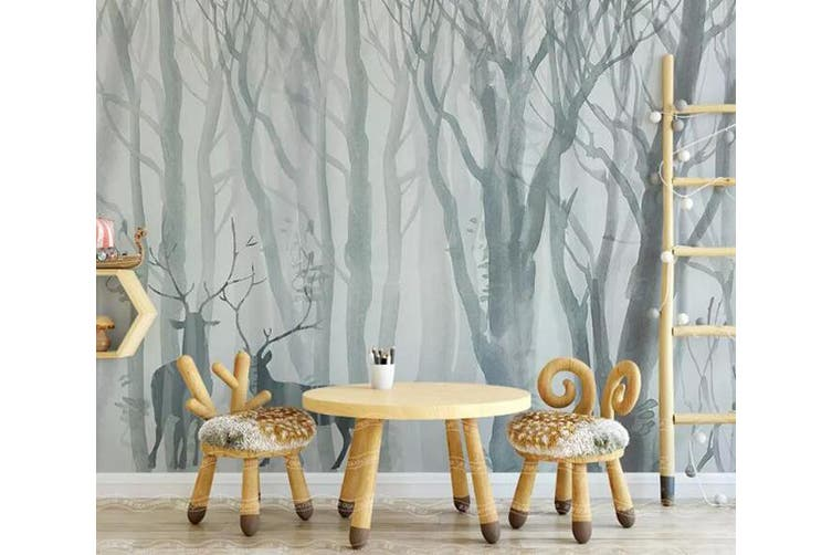 3D Home Wallpaper Misty Woods 1465 ACH Wall Murals Self-adhesive Vinyl, XXL 312cm x 219cm (WxH)(123''x87'')