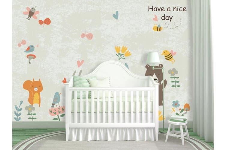 3D Home Wallpaper Cute Bear 1463 ACH Wall Murals Woven paper (need glue), XXXL 416cm x 254cm (WxH)(164''x100'')