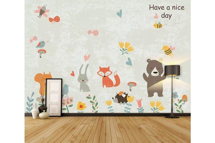 3D Home Wallpaper Cute Bear 1463 ACH Wall Murals Self-adhesive Vinyl, XXL 312cm x 219cm (WxH)(123''x87'')