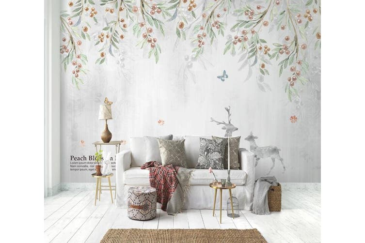 3D Home Wallpaper Leaf Fruit 1462 ACH Wall Murals Woven paper (need glue), XXXL 416cm x 254cm (WxH)(164''x100'')