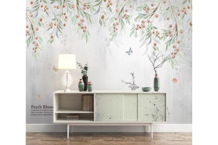 3D Home Wallpaper Leaf Fruit 1462 ACH Wall Murals Self-adhesive Vinyl, XL 208cm x 146cm (WxH)(82''x58'')