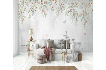 3D Home Wallpaper Leaf Fruit 1462 ACH Wall Murals Self-adhesive Vinyl, XXL 312cm x 219cm (WxH)(123''x87'')
