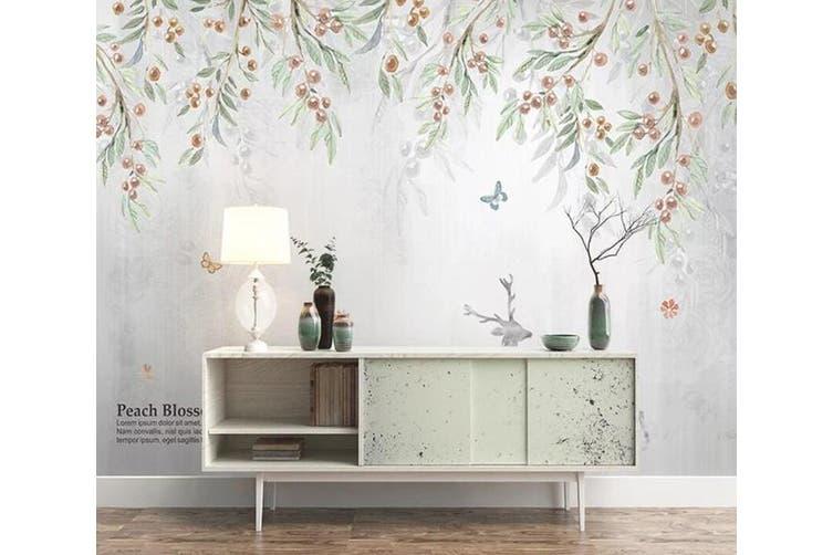 3D Home Wallpaper Leaf Fruit 1462 ACH Wall Murals Self-adhesive Vinyl, XXXXL 520cm x 290cm (WxH)(205''x114'')