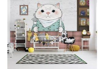 3D Home Wallpaper Kitten Eating 1457 ACH Wall Murals Woven paper (need glue), XXL 312cm x 219cm (WxH)(123''x87'')