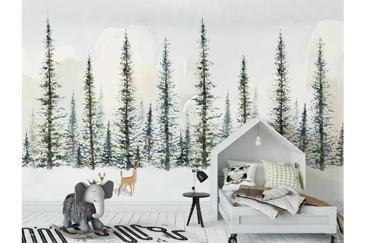 3D Home Wallpaper Woods Deer 1455 ACH Wall Murals Woven paper (need glue), XXL 312cm x 219cm (WxH)(123''x87'')