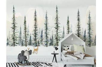 3D Home Wallpaper Woods Deer 1455 ACH Wall Murals Woven paper (need glue), XXXXL 520cm x 290cm (WxH)(205''x114'')