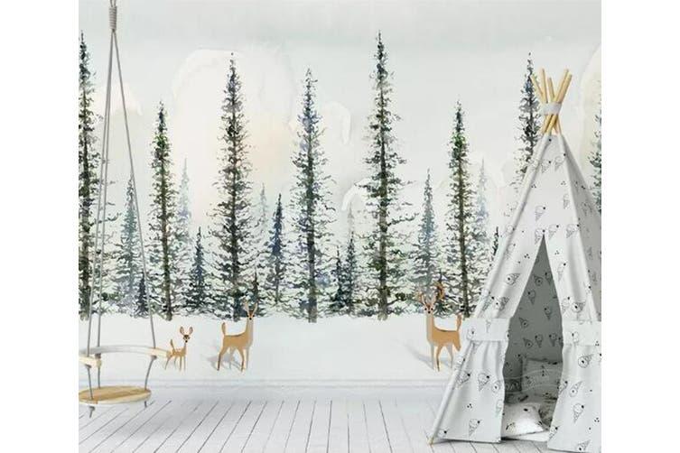 3D Home Wallpaper Woods Deer 1455 ACH Wall Murals Self-adhesive Vinyl, XXL 312cm x 219cm (WxH)(123''x87'')