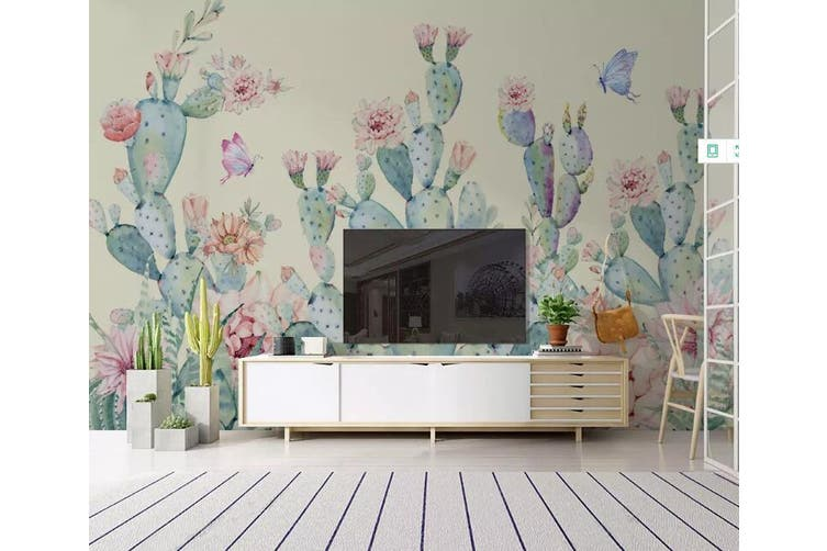 3D Home Wallpaper Cactus 1454 ACH Wall Murals Self-adhesive Vinyl, XXXL 416cm x 254cm (WxH)(164''x100'')