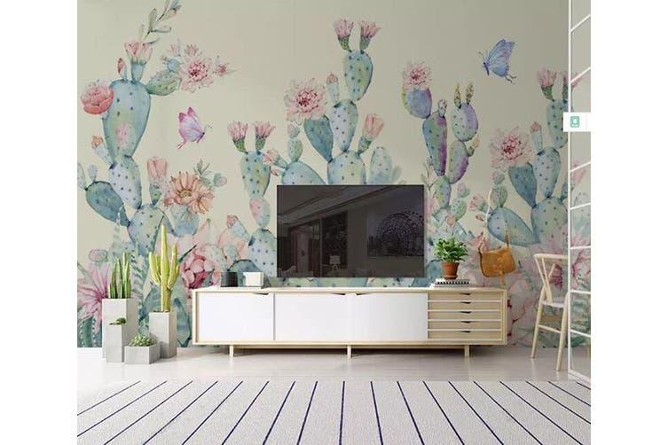 3D Home Wallpaper Cactus 1454 ACH Wall Murals Self-adhesive Vinyl, XXXXL 520cm x 290cm (WxH)(205''x114'')