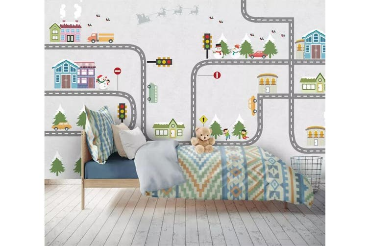 3D Home Wallpaper Small Tree pipeline 1452 ACH Wall Murals Woven paper (need glue), XL 208cm x 146cm (WxH)(82''x58'')