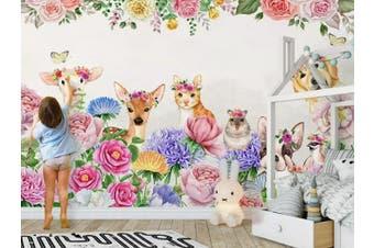 3D Home Wallpaper Pink Fawn 1451 ACH Wall Murals Woven paper (need glue), XXL 312cm x 219cm (WxH)(123''x87'')