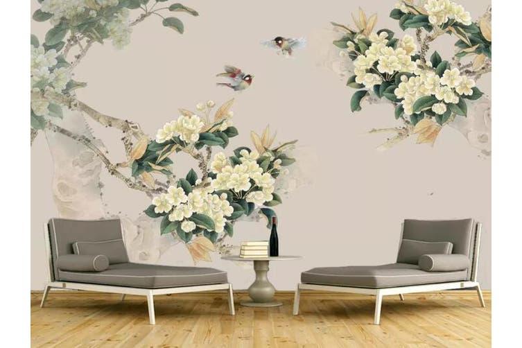 3D Home Wallpaper Flower 1450 ACH Wall Murals Woven paper (need glue), XXL 312cm x 219cm (WxH)(123''x87'')