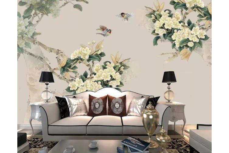 3D Home Wallpaper Flower 1450 ACH Wall Murals Woven paper (need glue), XXXXL 520cm x 290cm (WxH)(205''x114'')