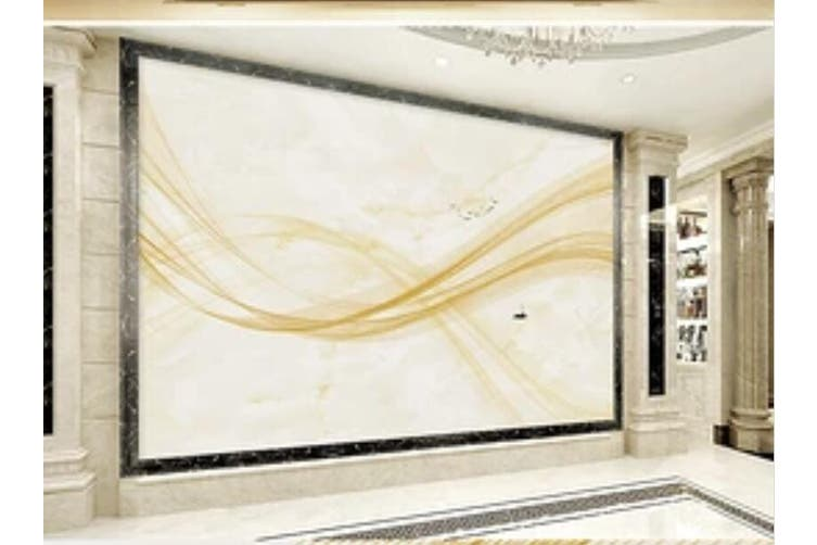 3D Home Wallpaper Wavy Stripes 1445 ACH Wall Murals Woven paper (need glue), XL 208cm x 146cm (WxH)(82''x58'')
