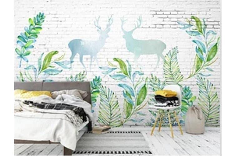 3D Home Wallpaper Little Deer Woods 1442 ACH Wall Murals Woven paper (need glue), XXL 312cm x 219cm (WxH)(123''x87'')