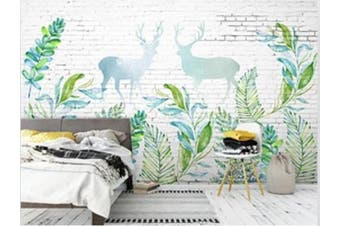 3D Home Wallpaper Little Deer Woods 1442 ACH Wall Murals Woven paper (need glue), XXXL 416cm x 254cm (WxH)(164''x100'')