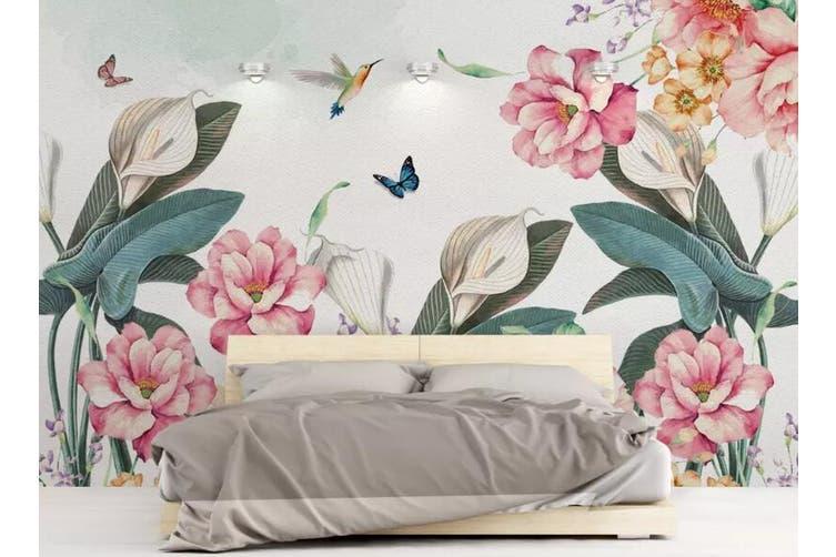 3D Home Wallpaper Flower 1441 ACH Wall Murals Woven paper (need glue), XXXXL 520cm x 290cm (WxH)(205''x114'')