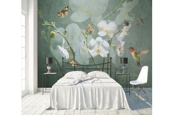3D Home Wallpaper Flower Butterfly 1438 ACH Wall Murals Self-adhesive Vinyl, XXXL 416cm x 254cm (WxH)(164''x100'')