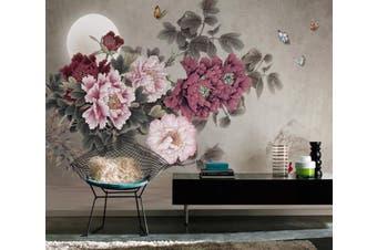 3D Home Wallpaper Flower Moon 1437 ACH Wall Murals Woven paper (need glue), XXXXL 520cm x 290cm (WxH)(205''x114'')