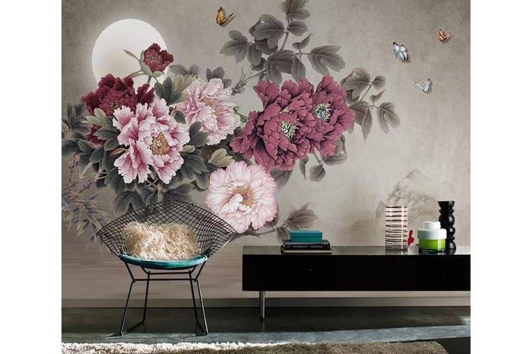3D Home Wallpaper Flower Moon 1437 ACH Wall Murals Self-adhesive Vinyl, XXL 312cm x 219cm (WxH)(123''x87'')