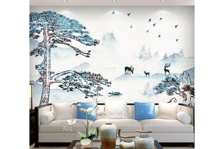 3D Home Wallpaper Deer Forest 1434 ACH Wall Murals Self-adhesive Vinyl, XXXL 416cm x 254cm (WxH)(164''x100'')